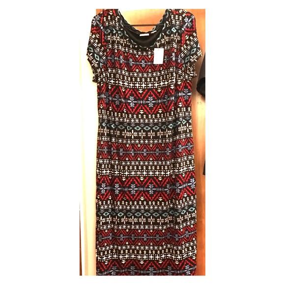 NWT CATO tribal print dress. Plus size (18/20W). NWT